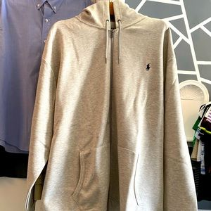 NWT HEATHER GRAY POLO BY RALPH LAUREN HOODIE